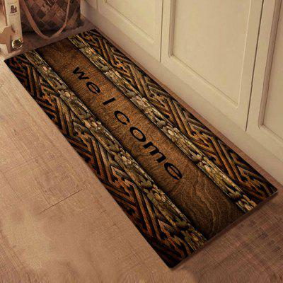 3D Printing Retro Bath Mat Welcome Floor Carpet Non-Slip Area Rug