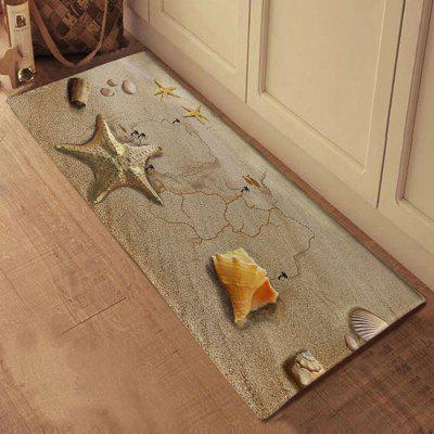 3D Printing Starfish Beach Pattern Bath Mat Welcome Floor Carpet Non-Slip Area Rug