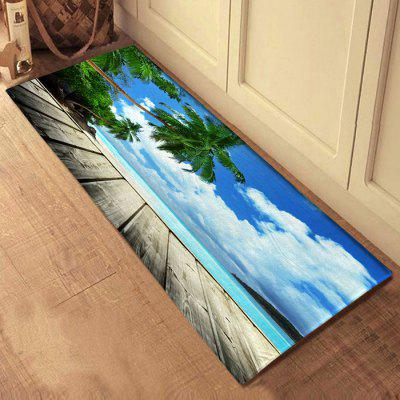 3D Printing Sea View Bath Mat Floor Carpet Non-Slip Area Rug