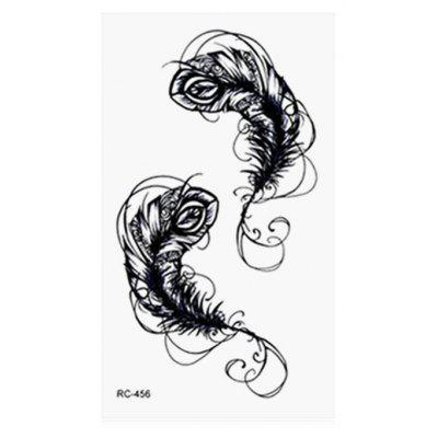 Abstract Feather Pattern Temporary Tattoo