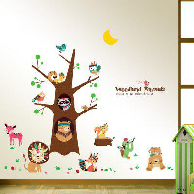 Buy Adorable Animals Mural Decal Home Decor Wall Sticker, COLORMIX, Home & Garden, Home Decors, Wall Art, Wall Stickers for $6.43 in GearBest store