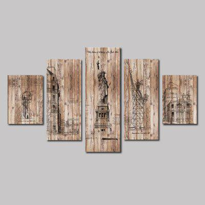 Buy Qiaojiahuayuan Set 16 5 Panels Artistic Style Canvas Print, COLORMIX, Home & Garden, Home Decors, Wall Art, Prints for $23.01 in GearBest store