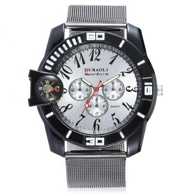 Jubaoli F1076 - 1 Men Stylish Quartz WristwatchMens Watches<br>Jubaoli F1076 - 1 Men Stylish Quartz Wristwatch<br><br>Band material: Steel<br>Band size: 23.5 x 2.2cm<br>Brand: Jubaoli<br>Case material: Alloy<br>Clasp type: Pin buckle<br>Dial size: 4 x 4 x 1cm<br>Display type: Analog<br>Movement type: Quartz watch<br>Package Contents: 1 x Watch, 1 x Box<br>Package size (L x W x H): 8.50 x 8.00 x 5.50 cm / 3.35 x 3.15 x 2.17 inches<br>Package weight: 0.0930 kg<br>Product size (L x W x H): 23.50 x 4.00 x 1.00 cm / 9.25 x 1.57 x 0.39 inches<br>Product weight: 0.0580 kg<br>Shape of the dial: Round<br>Watch mirror: Acrylic<br>Watch style: Fashion<br>Watches categories: Men