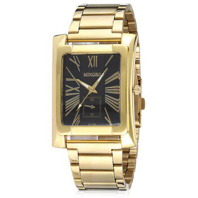 Buy BLACK Fashionable Quartz Watch with Steel Band for Men for $10.74 in GearBest store