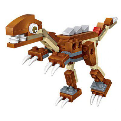 Ensemble de Blocs de Construction LOZ Mini Velociraptor Dinosaur