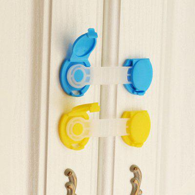 2PCS Flexible Child Protection Baby Safety Security Lock, Blue;yellow