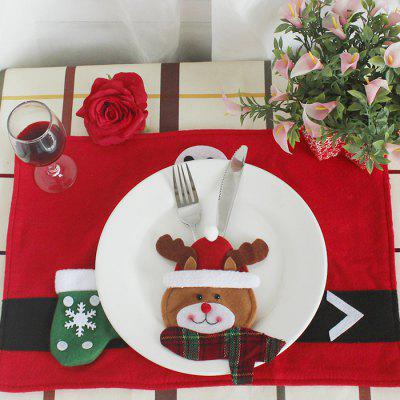 Adorable Elk Style Forks Knives Cover for Flatware DecorationChristmas Supplies<br>Adorable Elk Style Forks Knives Cover for Flatware Decoration<br><br>For: All<br>Package Contents: 1 x Knife Fork Holder<br>Package size (L x W x H): 12.50 x 12.50 x 16.00 cm / 4.92 x 4.92 x 6.3 inches<br>Package weight: 0.0700 kg<br>Product size (L x W x H): 10.50 x 10.50 x 14.00 cm / 4.13 x 4.13 x 5.51 inches<br>Product weight: 0.0600 kg<br>Usage: Christmas