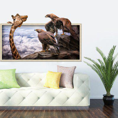 Buy 3D Giraffe Eagle Mural Decal Home Decor Wall Sticker, COLORMIX, Home & Garden, Home Decors, Wall Art, Wall Stickers for $4.49 in GearBest store