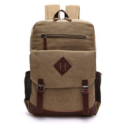 Buy KHAKI Men Vintage Durable Canvas Backpack for $23.49 in GearBest store