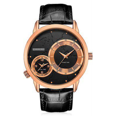 Buy ROSE GOLD CRRJU 2131 Genuine Leather Band Men Quartz Watch for $18.15 in GearBest store