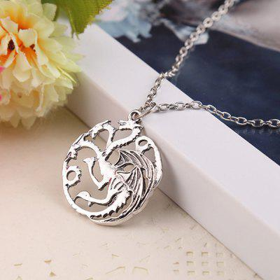 Retro Necklace with Three Heads Dragon Pattern PendantNecklaces &amp; Pendants<br>Retro Necklace with Three Heads Dragon Pattern Pendant<br><br>Design Style: Retro<br>Gender: Unisex<br>Materials: Zinc Alloy<br>Package Contents: 1 x Necklace<br>Package size: 6.00 x 3.00 x 3.00 cm / 2.36 x 1.18 x 1.18 inches<br>Package weight: 0.0320 kg<br>Product size: 3.20 x 3.20 x 1.00 cm / 1.26 x 1.26 x 0.39 inches<br>Product weight: 0.0120 kg<br>Stem From: China<br>Theme: Animals,Movie and TV