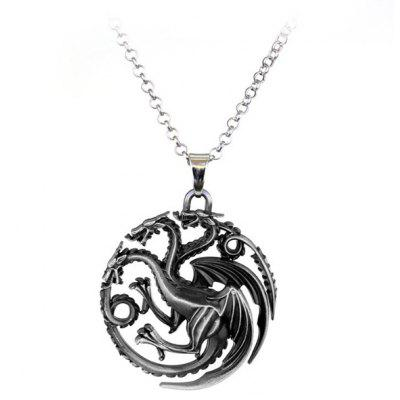 Necklace with Hollow Design Dragon Pendant