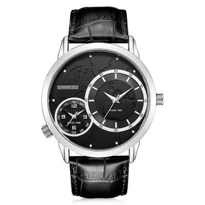 Buy WHITE AND BLACK CRRJU 2131 Genuine Leather Band Men Quartz Watch for $18.15 in GearBest store