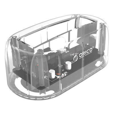 ORICO 6139U3 - CR Transparent Docking StationHDD Enclosure<br>ORICO 6139U3 - CR Transparent Docking Station<br><br>Application: Desktop, Laptop, Server<br>Brand: ORICO<br>Design: Compact<br>Model: 6139U3 - CR<br>Package Size(L x W x H): 16.40 x 13.80 x 8.10 cm / 6.46 x 5.43 x 3.19 inches<br>Package weight: 0.4700 kg<br>Packing List: 1 x ORICO Hard Drive Enclosure, 1 x Power Adapter, 1 x USB 3.0 Cable, 1 x English User Manual<br>Product Size(L x W x H): 14.50 x 7.80 x 6.00 cm / 5.71 x 3.07 x 2.36 inches<br>Product weight: 0.4400 kg