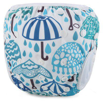 Umbrella Pattern Baby Swim Diaper Reusable Infant Nappy