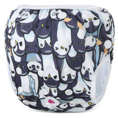 Penguin Pattern Baby Swim Diaper Reusable Infant Nappy