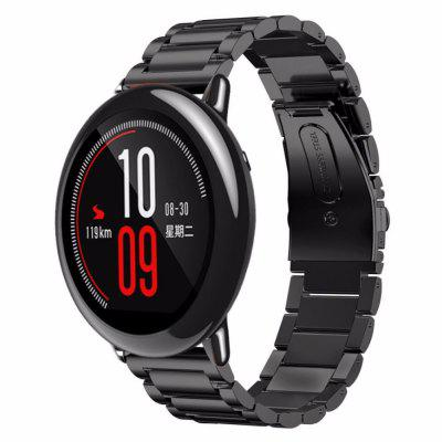 Gearbest 22mm Stainless Steel Wristband for AMAZFIT Pace (Black) only $6.53