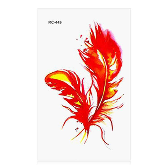 Phoenix Feather Pattern Temporary Tattoo