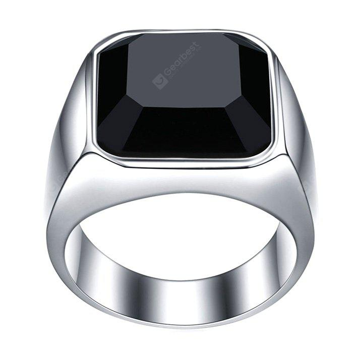 Game Element Stainless Steel Black Zircon Male Finger Ring