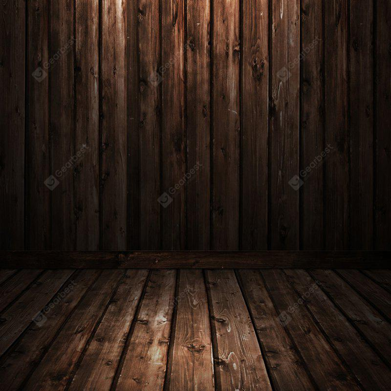 Buy Retro Wood Plank Wall Photography Background Cloth TAN