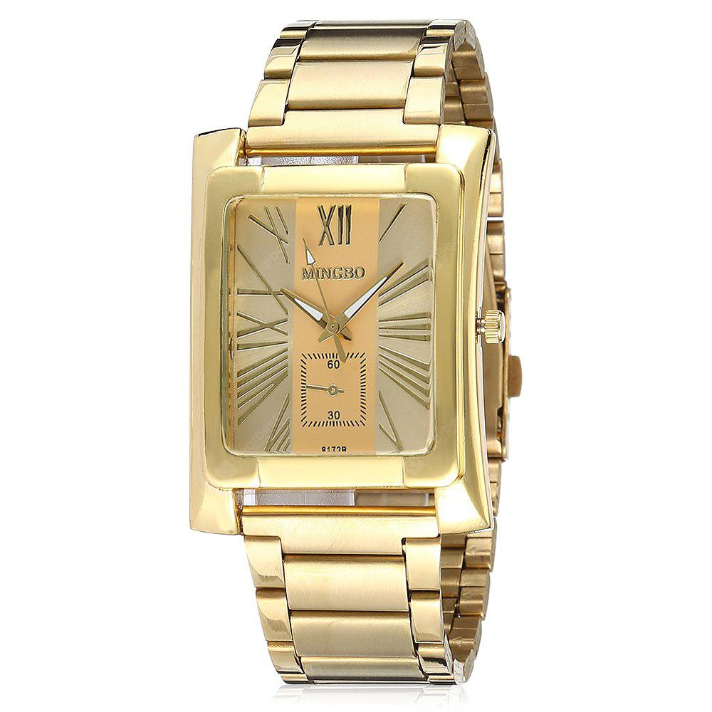 GOLDEN Fashionable Quartz Watch with Steel Band for Men