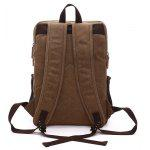 Men Vintage Durable Canvas Backpack - COFFEE