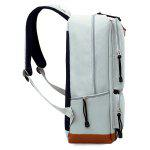 Men Fashion Durable Laptop Backpack - GREY WHITE