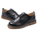 Male Classical Soft Low Top Martin Casual Oxford Shoes - BLACK