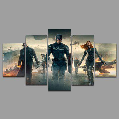 5PCS YSDAFEN Movie Scene Framed Decorative Canvas Print