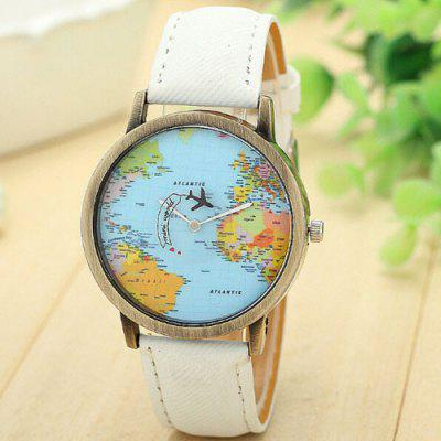 Casual world map plane pattern wrist watch 499 online shopping casual world map plane pattern wrist watch gumiabroncs Choice Image