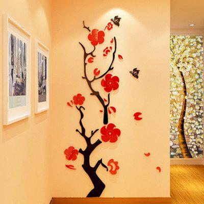 3D DIY Removable Flower Acrylic Decal Wallpaper Wall Sticker