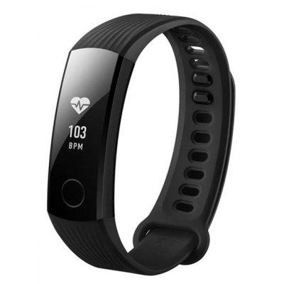 HUAWEI Band 3 Smartband  –  BLACK, 24 Hours Heart Rate Monitor! 50 Meters Waterproof Design for Swimming!