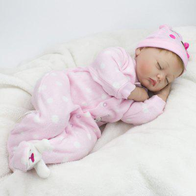 Cute Sleeping Silicone Real Looking Baby Girl Reborn Toy
