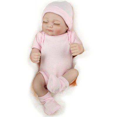 Sleeping Silicone Real Looking Reborn Baby Girl Toy
