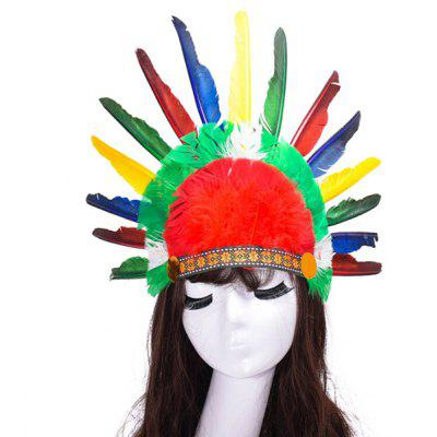 Buy COLORFUL Unique Colorful Feather Decorative Headdress for $3.26 in GearBest store
