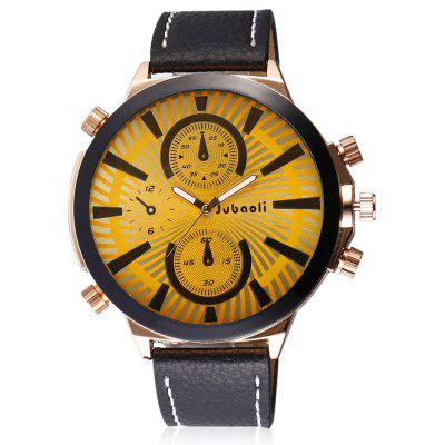 Buy Jubaoli 2001 Male Quartz Watch with Leather Band, GOLDEN, Watches & Jewelry, Men's Watches for $11.11 in GearBest store