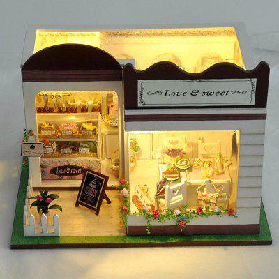 Buy DIY Simple Style Wooden Dollhouse Set for Kids COLORMIX for $30.28 in GearBest store