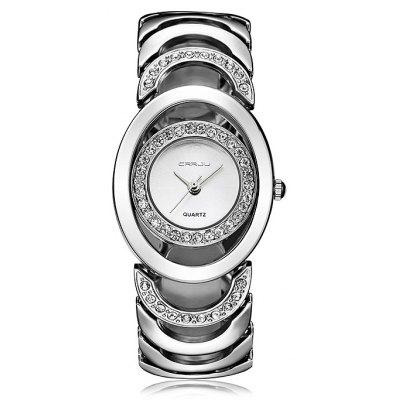 CRRJU 2201 Female Trendy Alloy Steel Band Quartz Watch