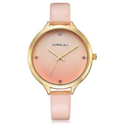 Buy PAPAYA CRRJU 2120 Female Genuine Leather Band Quartz Watch for $13.78 in GearBest store