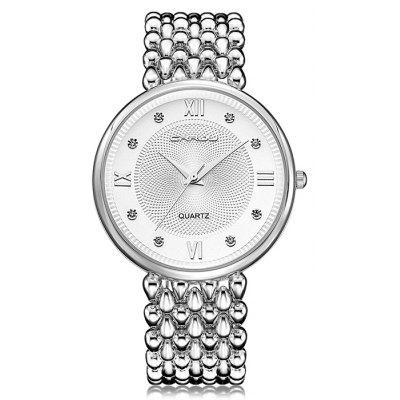CRRJU 2202 Female Casual Alloy Steel Band Quartz Watch