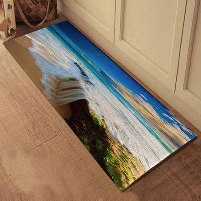 Absorbent Non-slip Sea Wave Pattern Bathroom Mats