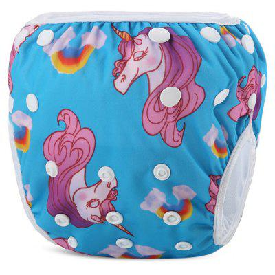 Animal Pattern Baby Swim Diaper Reusable Infant Nappy