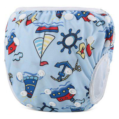 Ship Pattern Baby Swim Diaper Reusable Infant Nappy
