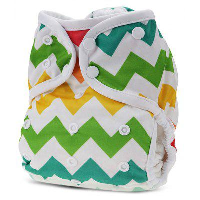 Wave Pattern Baby Swim Diaper Leakproof Infant Nappy