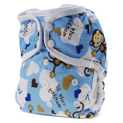 Monkey Pattern Baby Swim Diaper Leakproof Infant Nappy