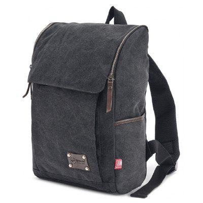 Men Outdoor Leisure Canvas Backpack