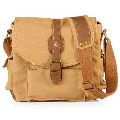 Men Vintage Durable Canvas Shoulder Bag