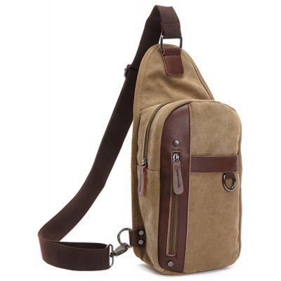 Male Thick Canvas Shoulder Bag