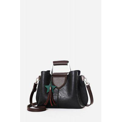 Splicing PU Tote Shoulder Bag for Women