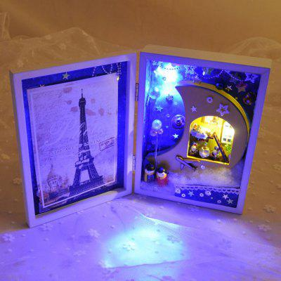 DIY Miniature Folding Photo Frame Style Dollhouse Toy